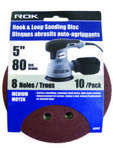 "5"" 8 Hole Hook & Loop Sanding Disc GRIT 40 TO 240"